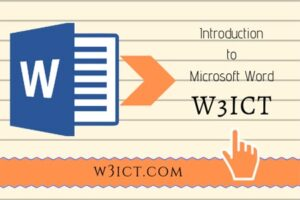 What is MS Word and Its 7 Important Features   w3ict