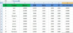 complete salary sheet in excel
