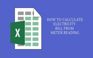 How to calculate electricity bill from meter reading