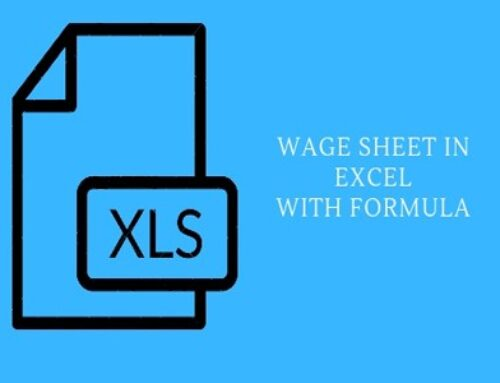 How to make wage sheet in excel with formula